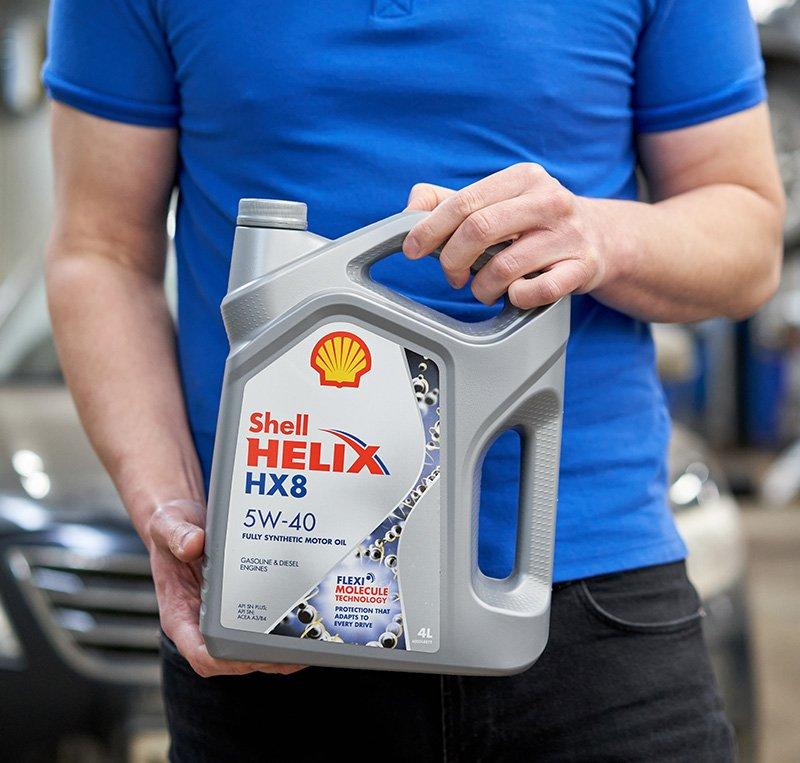 Distributore olio Shell e lubrificante industriale